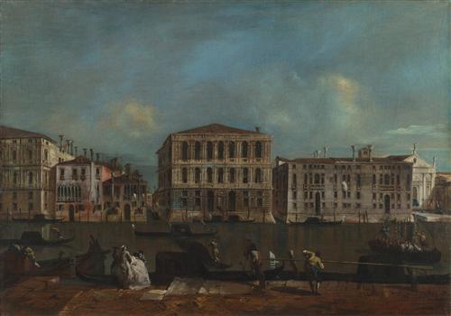 Постер на подрамнике The Grand Canal with Palazzo Pesaro