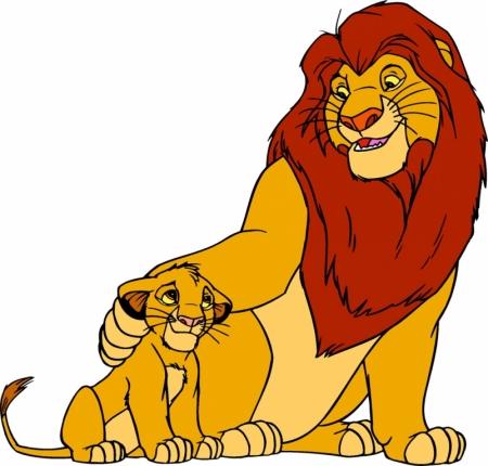 Постер (плакат) Король лев (Муфаса и Симба)