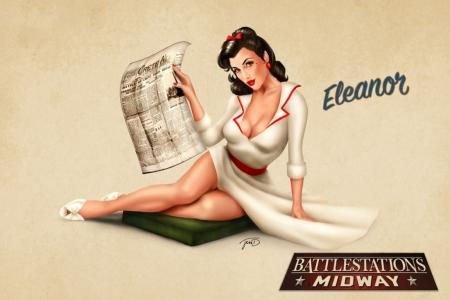 Постер на подрамнике Eleanor (стиль пин ап)