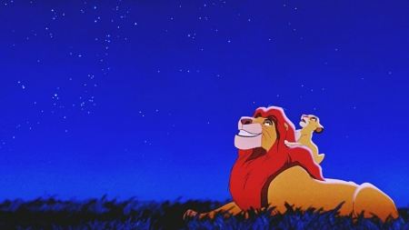 Плакат Король лев (Муфаса и Симба)