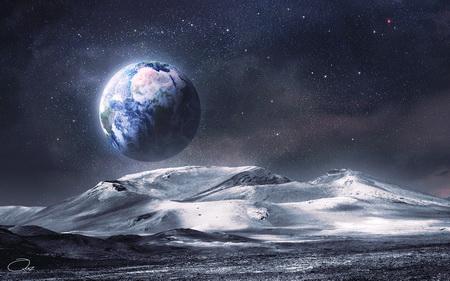 Постер на подрамнике Космос