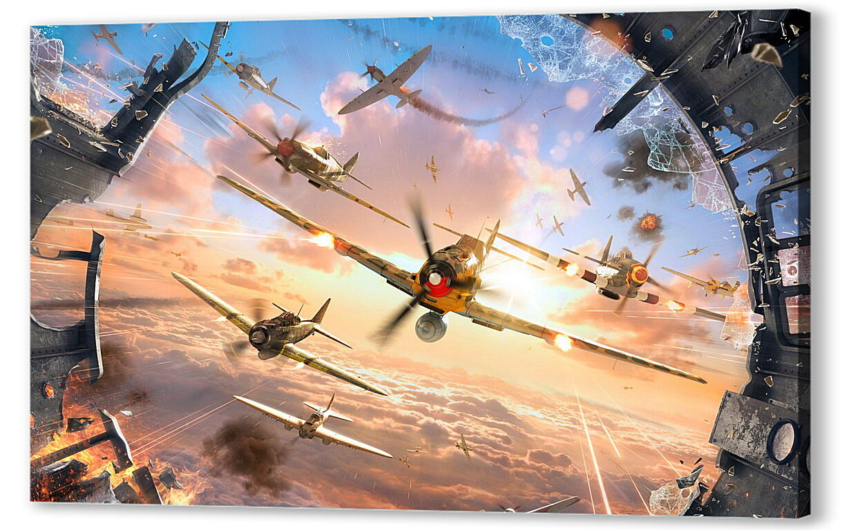 Постер на подрамнике World Of Warplanes  артикул 22740