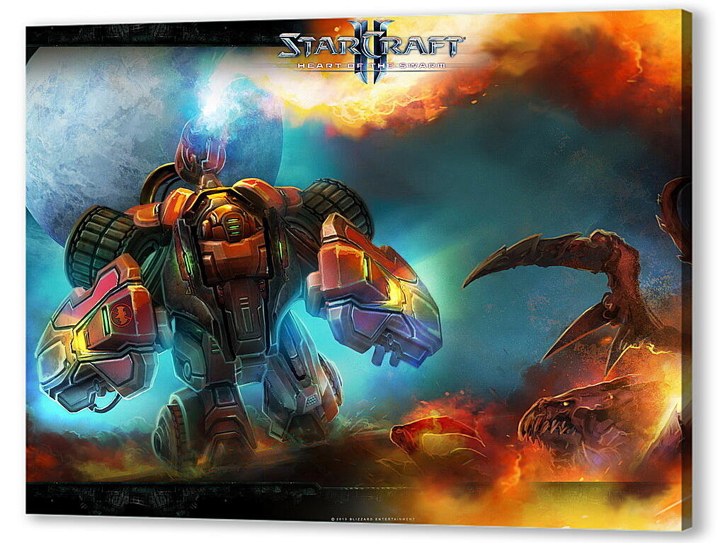 Постер на подрамнике StarCraft II: Heart Of The Swarm  артикул 27782