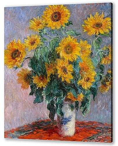 Постер на подрамнике Bouquet of sunflowers	  артикул 65634