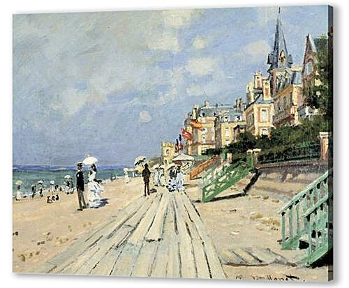 Постер на подрамнике Beach at Trouville	  артикул 69840