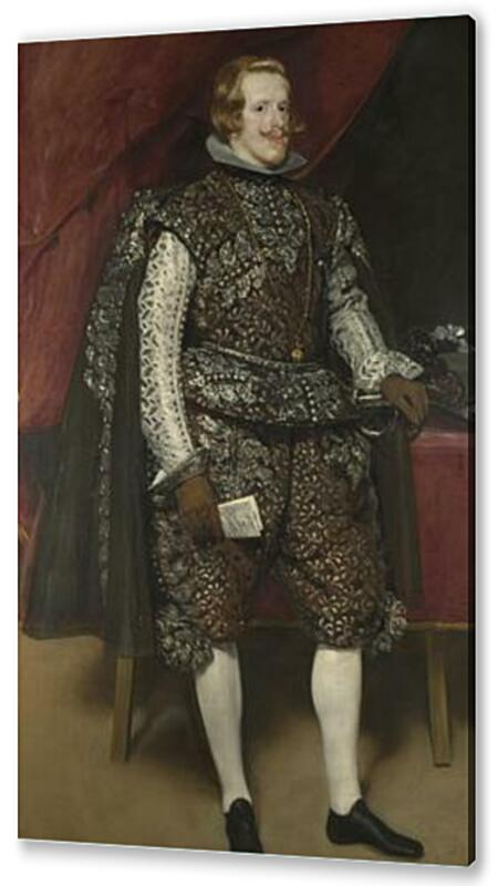 Постер на подрамнике Philip IV of Spain in Brown and Silver	  артикул 73611
