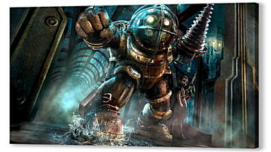 Постер на подрамнике - bioshock, big daddy, little sister