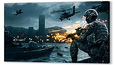 Постер на подрамнике - battlefield 4, game, ea digital illusions ce