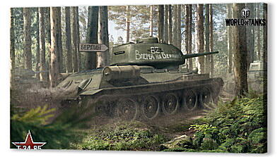 Постер на подрамнике - world of tanks, tank, timber