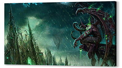 Постер на подрамнике - wow, illidan, world of warcraft