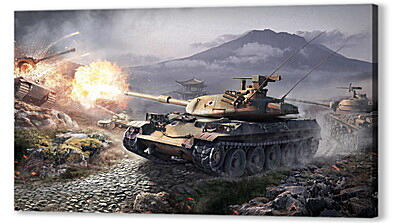 Постер на подрамнике - world of tanks, wargaming net, wot