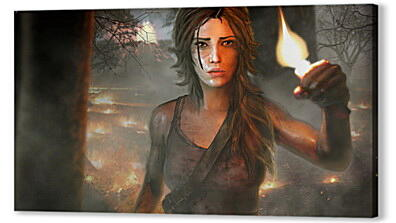Постер на подрамнике - tomb raider, girl, torch