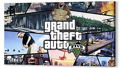 Постер на подрамнике - gta, grand theft auto 5, photos