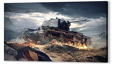 world of tanks blitz, wargaming net, kv-1