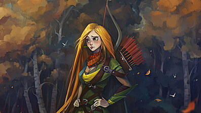 windrunner, dota 2, art