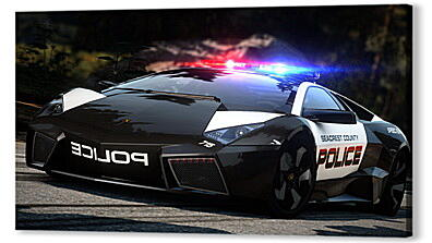 Постер на подрамнике - nfs, need for speed, police