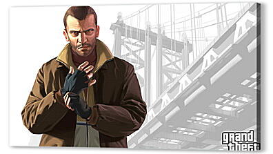 Постер на подрамнике - gta, grand theft auto 4, niko bellic