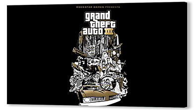 Постер на подрамнике - gta, grand theft auto 3, graphics