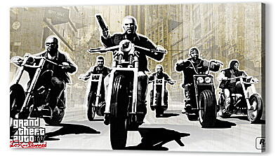 Постер на подрамнике - gta 4 lost and damned, grand theft auto 4 lost and damned, bikers