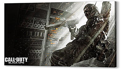 Постер на подрамнике - call of duty black ops, soldier, gun