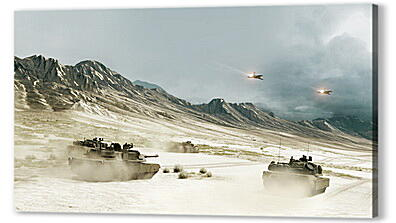 battlefield, tanks, mountains