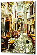 Постер на подрамнике - Old Streets of Greece