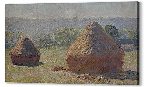 Картина маслом - Haystacks at the End of the Summer, Morning Effect