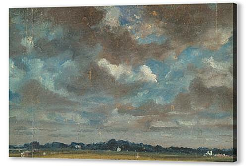 Картина маслом - Extensive Landscape with GreyClouds