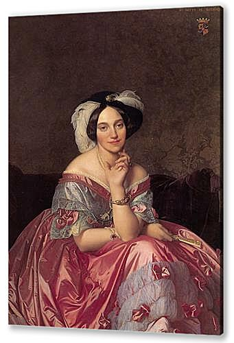 Постер на подрамнике - Ingres Baronne James de Rothschild