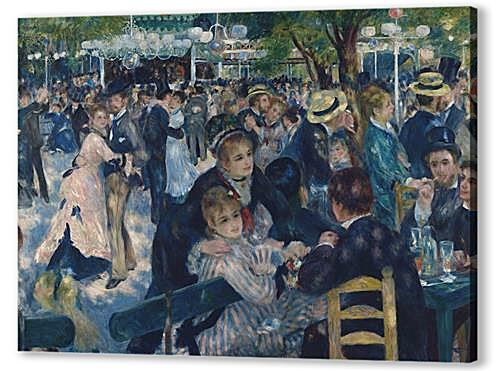 Постер на подрамнике - Dance at the Moulin de la Galette