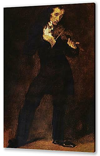 Постер на подрамнике - Portrait Of Paganini