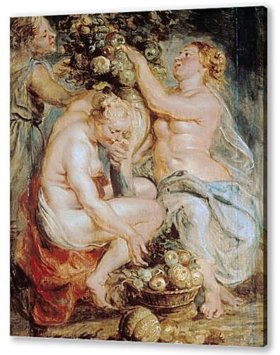 Ceres and Two Nymphs with a Cornucopia