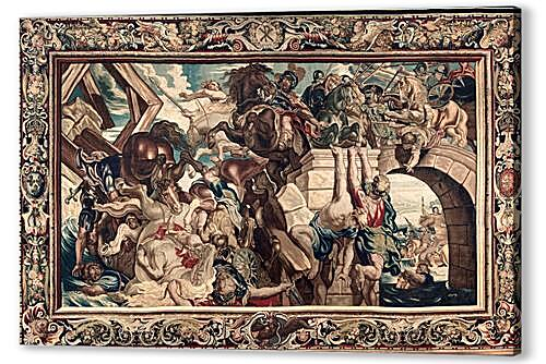 Tapestry showing the Triumph of Constantine over Maxentius at the Battle of the Milvian Bridge