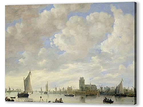 Постер на подрамнике - View of the Merwede off Dordrecht