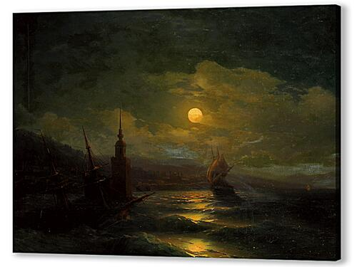 A corner of Constantinople from the sea by moonlight