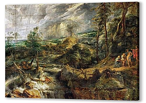 Stormy Landscape with Philemon and Baucis