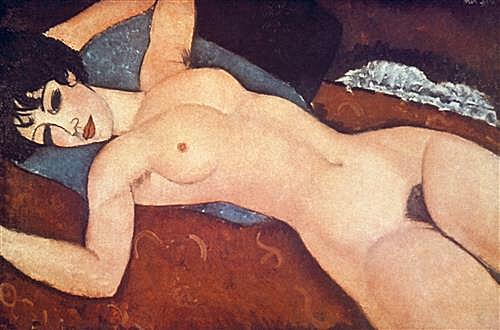 Nude on cushion