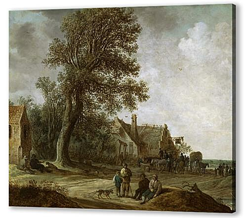 Постер на подрамнике - Peasants Resting before an Inn
