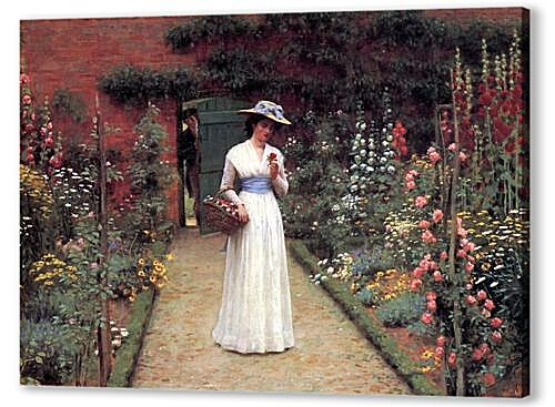 Картина маслом - Edmund Blair Lady in a Garden