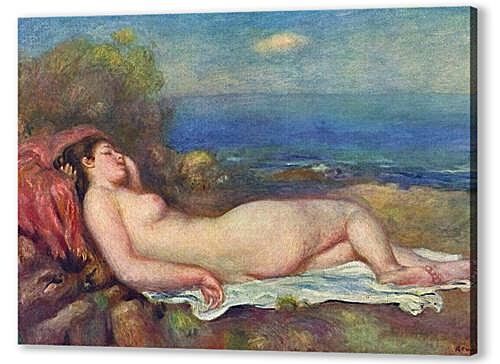 Постер на подрамнике - Sleeping Nude near the Sea