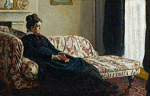 Meditation, Mrs. Monet Sitting on a Sofa
