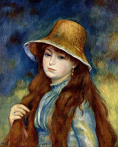 Young Girl in a Straw Hat