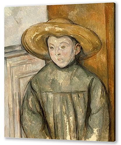 Картина маслом - Boy With a Straw Hat
