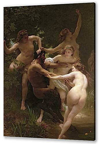 Картина маслом - Nymphs and Satyr