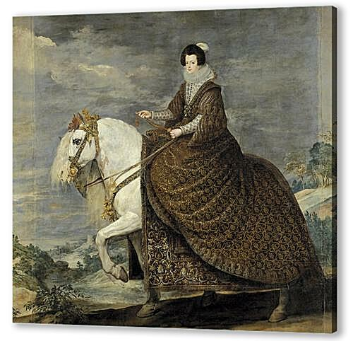 Постер на подрамнике - Queen Isabel de Bourbon wife of Felipe IV on Horseback