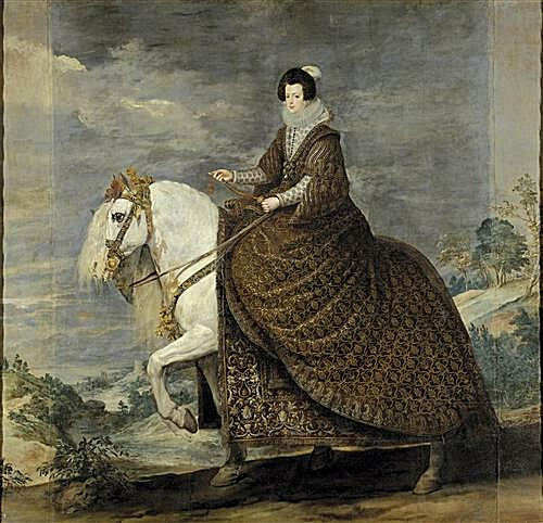 Плакат на стену - Queen Isabel de Bourbon wife of Felipe IV on Horseback