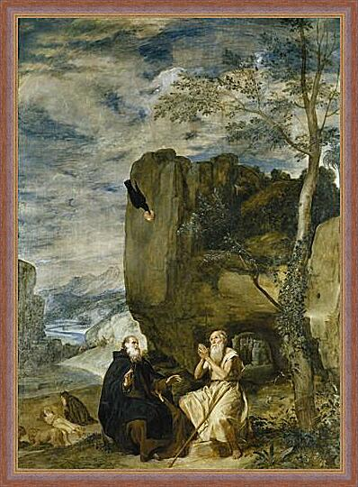 Картина - Saint Anthony the Abbot and Saint Paul theFirst Hermit