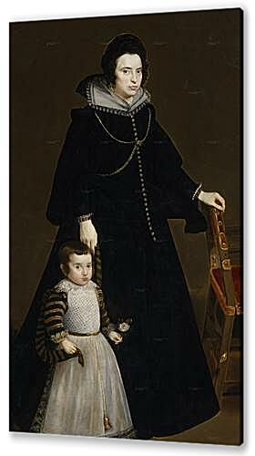 Постер на подрамнике - Antonia de Ipenarrieta y Galdos and her son Luis