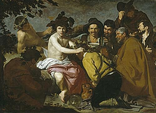 Плакат на стену - The Triumph of Bacchus or the Drinkers