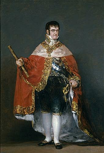 King Fernando VII with the Robes of State